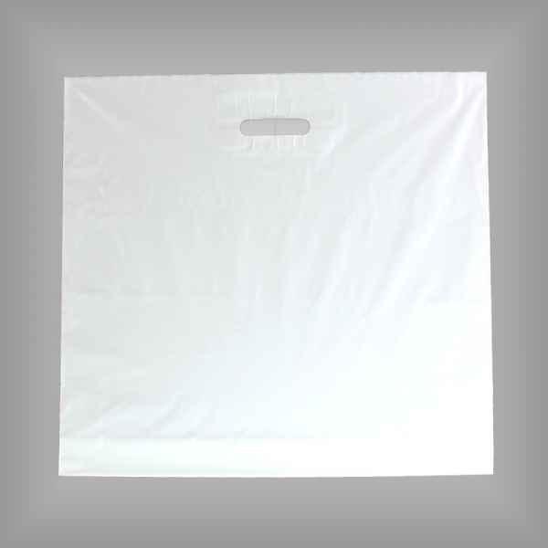 25 Plastiktüten weiß 65 x 60 + 5cm mit Griffloch