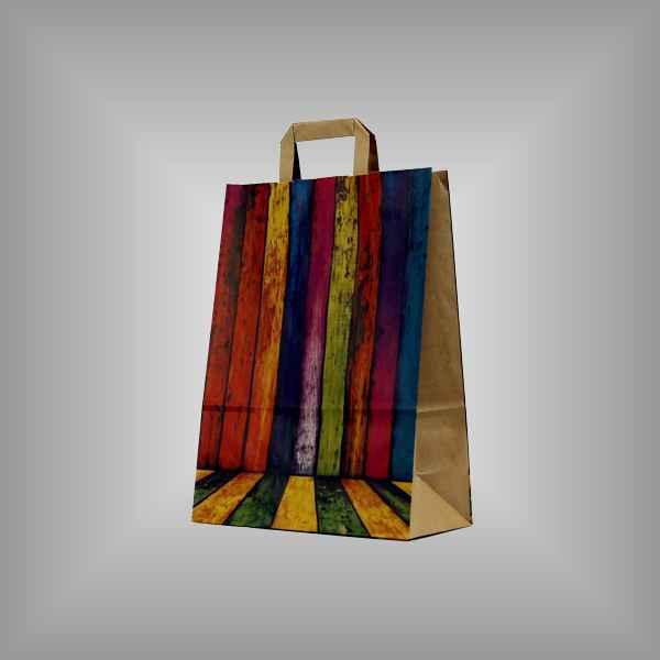"""25 Papiertragetaschen """"Color-Mix"""", 26 x 11 x 35cm flacher Griff"""