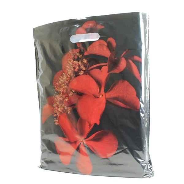 """50 Plastiktüten """"Orchidee"""", 38 x 45 + 5cm mit Griffloch"""