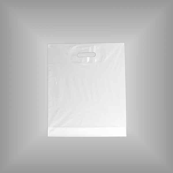 50 Plastiktüten weiß 37 x 44 + 4cm mit Griffloch