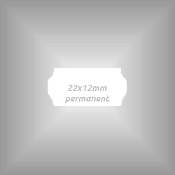 Klebeetikett 22x12mm permanent