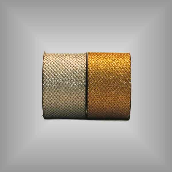 Tüllband metallisiert 75mm, 20 m / Rolle