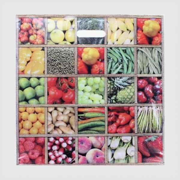 """50 Plastiktüten """"Obst&Gemüse"""", 44 x 44 + 4cm mit Griffloch"""