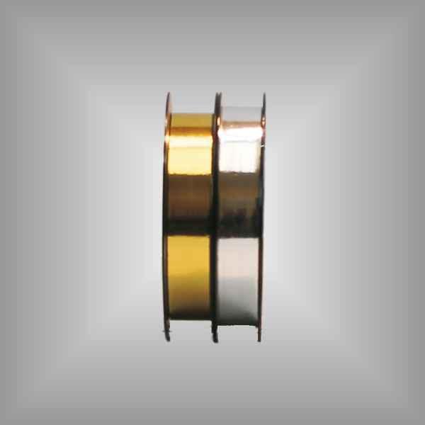 Kräuselband metallic 19mm, 91m / Rolle