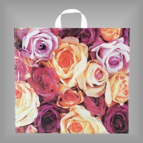 Plastiktüte Rosenpracht mit Schlaufengriff