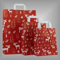 Weihnachtspapiertüte für Weihnachten mit Elchen