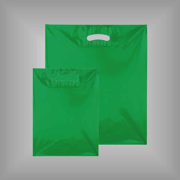50 Plastiktüten grün-transparent mit Griffloch