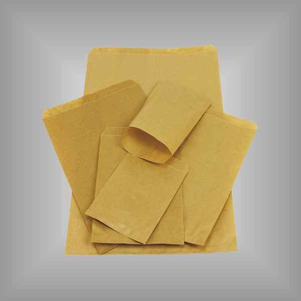 100 Papierflachbeutel braun 15 x 20cm