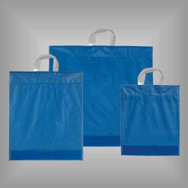 50 Plastiktüten dunkelblau-transparent mit Schlaufengriff
