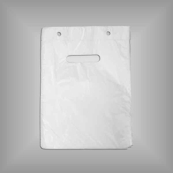 100 Plastiktüten auf Abreißleiste in weiß