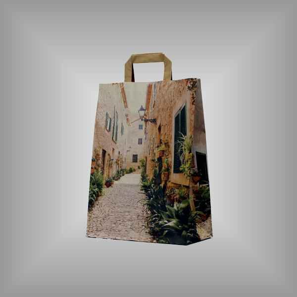 """25 Papiertragetaschen """"Orvieto"""", 26 x 11 x 35cm flacher Griff"""