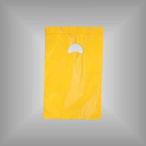 Plastiktüte mit Abreißleiste gelb