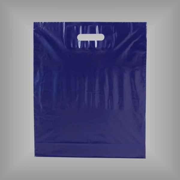 50 Plastiktüten dunkelblau mit Griffloch