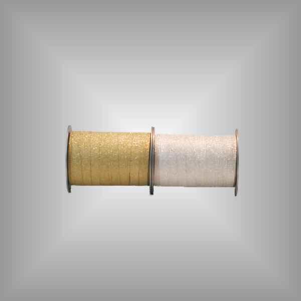 Kräuselband Glitter 10mm, 100 m / Rolle