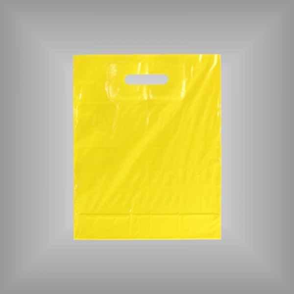50 Plastiktüten gelb mit Griffloch 30x37x5cm