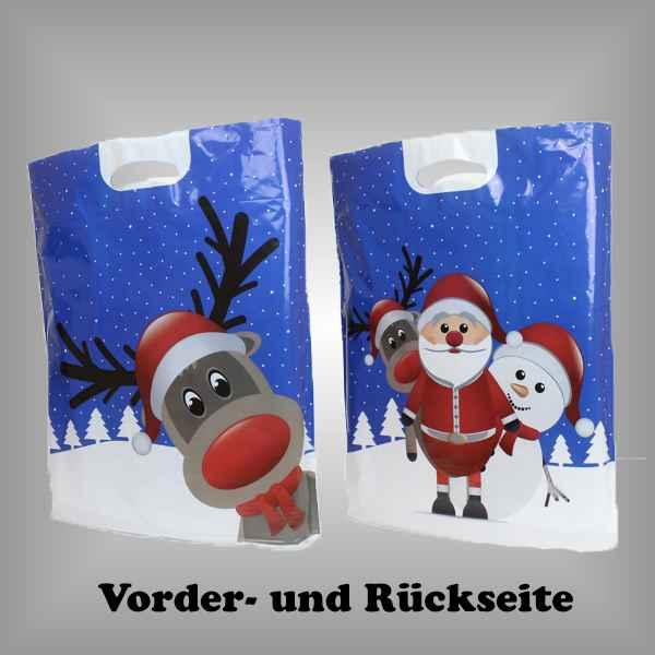 """50 Plastiktüten """"Weihnachts-Elch"""" mit Griffloch"""