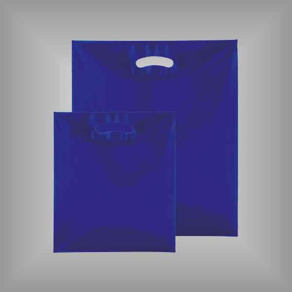 50 Plastiktüten blau-transparent mit Griffloch