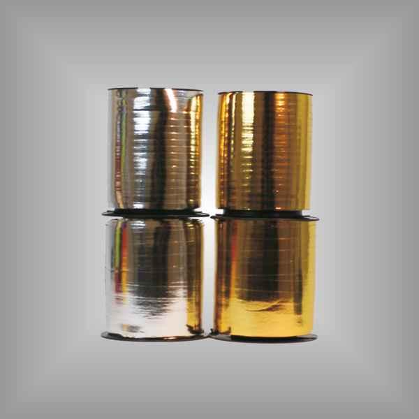 Kräuselband metallic 4,8mm / 9,6mm, 250 m / Rolle