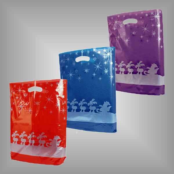 """50 Plastiktüten """"Fresh Weihnachten"""" mit Griffloch"""