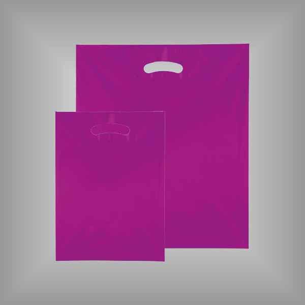50 Plastiktüten lila-transparent mit Griffloch