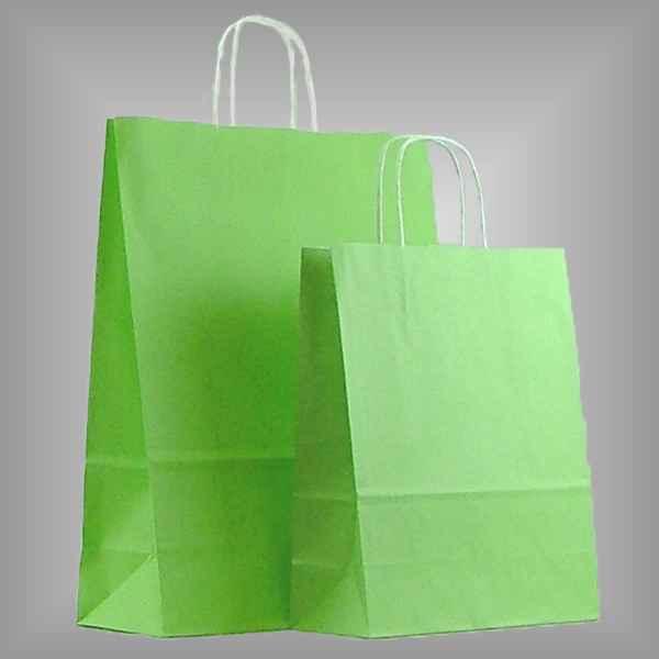 25 Papiertüten hellgrün, gedrehter Griff