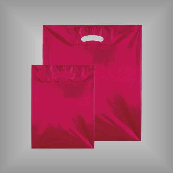 50 Plastiktüten rot-transparent mit Griffloch