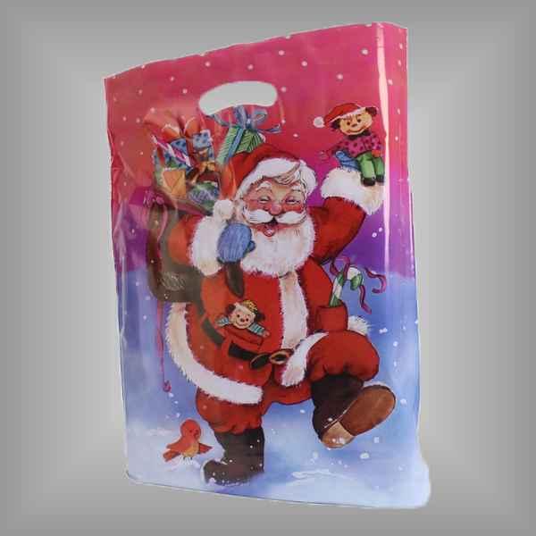 """50 Plastiktüten """"Weihnachtsmann"""" mit Griffloch"""