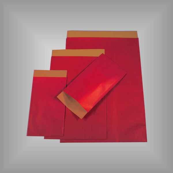 Papierflachbeutel Rot